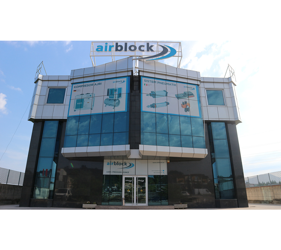 Airblock building in Albania